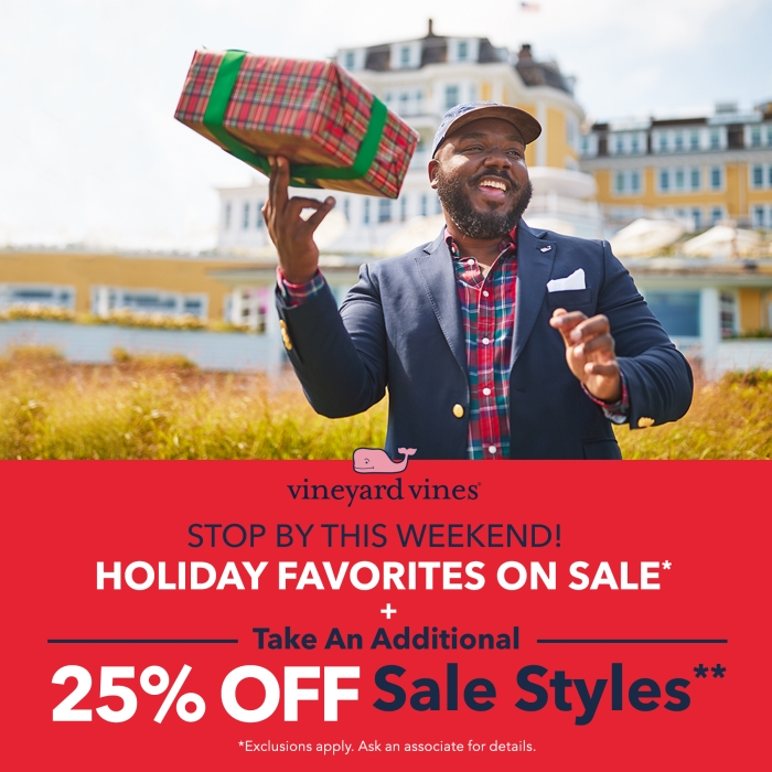 Holiday Favorites Sale Plus an Additional 25% off sale styles from vineyard vines