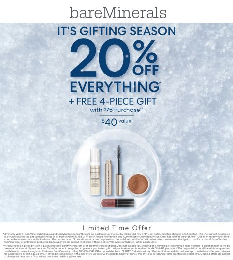It's Gifting Season from bareMinerals