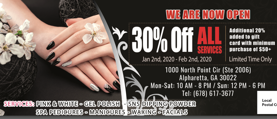 30% Off in 2020 from Cosmo Nail Lounge