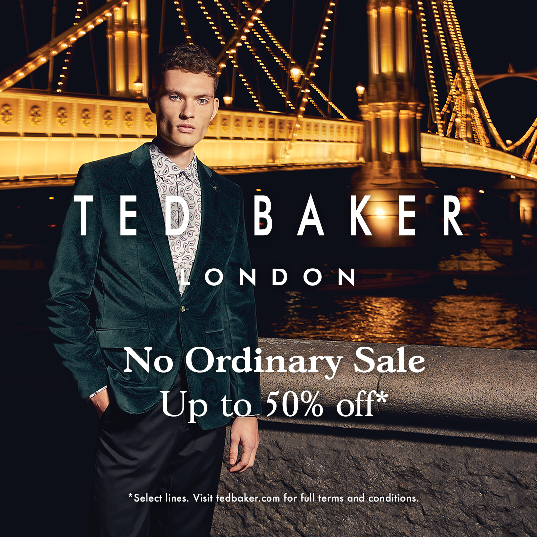 50% off select lines from Ted Baker London