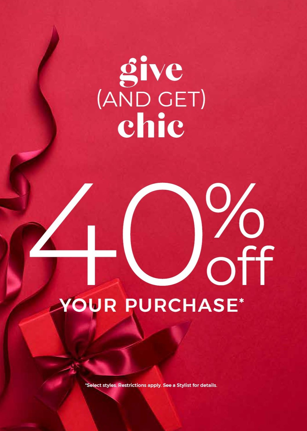 40% Off Chic! from Chico's