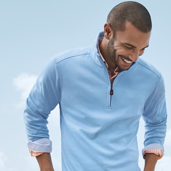   Martinique Half-Zip + Newport Coast Shirt from Tommy Bahama