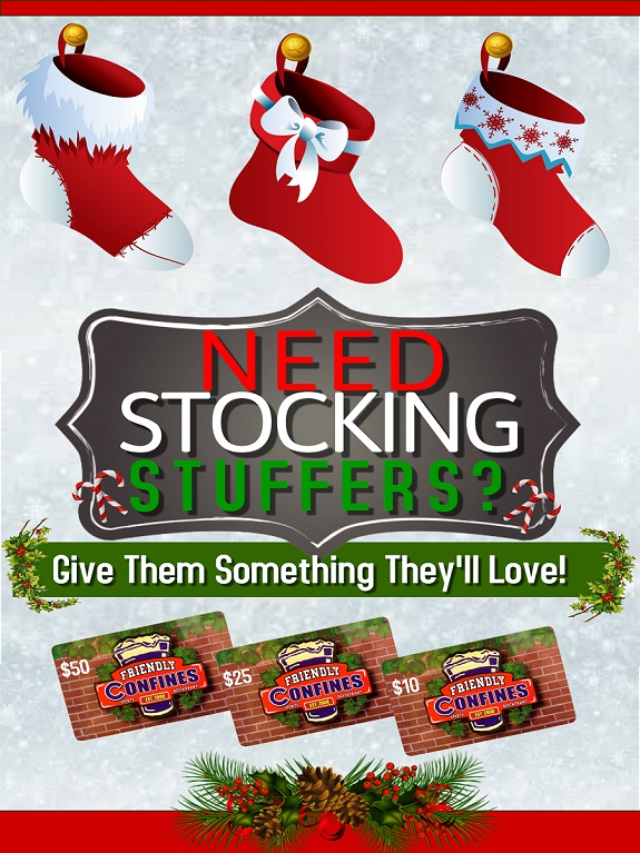 Friendly Confines stocking stuffers from Friendly Confines