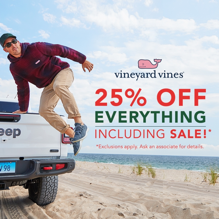 Holiday Deals! 25% off EVERYTHING from vineyard vines