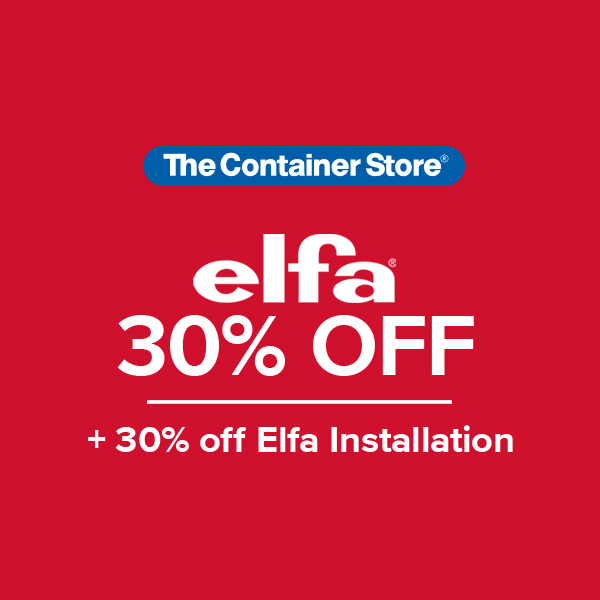 Elfa Sale from The Container Store