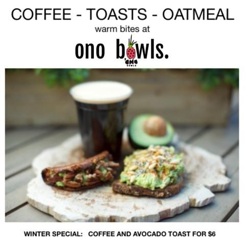 Warm bites at Ono Bowls