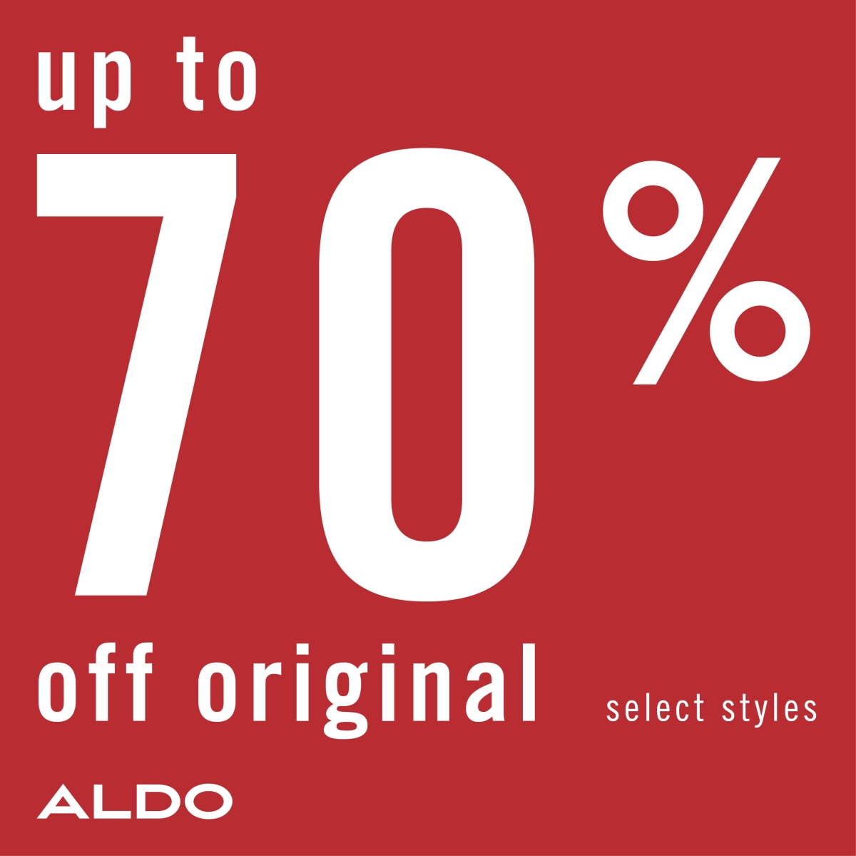 End of season sale! - Up to 70% off on sale from ALDO