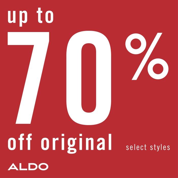 Seasonal sale from ALDO