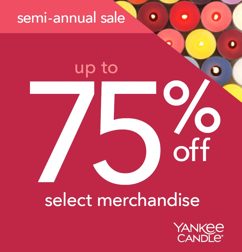 Yankee Candle Semi Annual Sale! from Yankee Candle