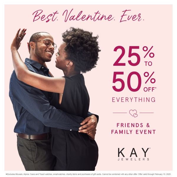 Friends & Family Event: 25-50% Off* Everything! from Kay Jewelers