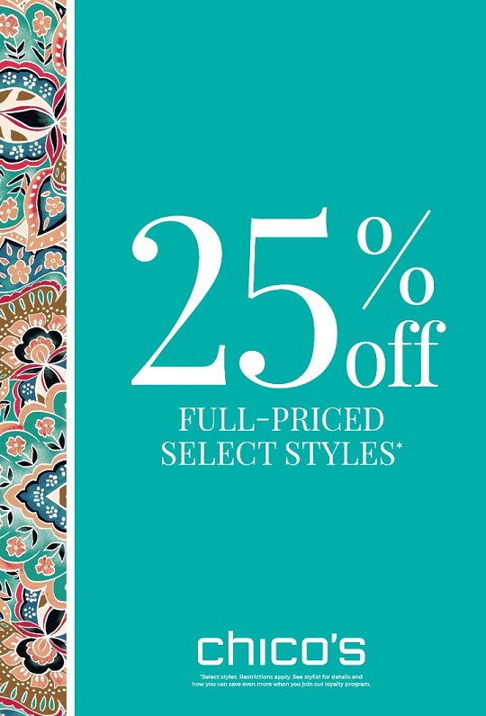 25% Off Full Priced! from Chico's