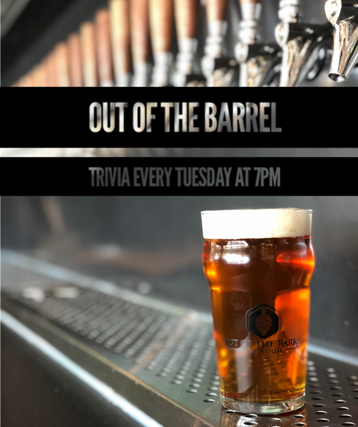 Tuesday Trivia Night! from Out Of The Barrel Taproom