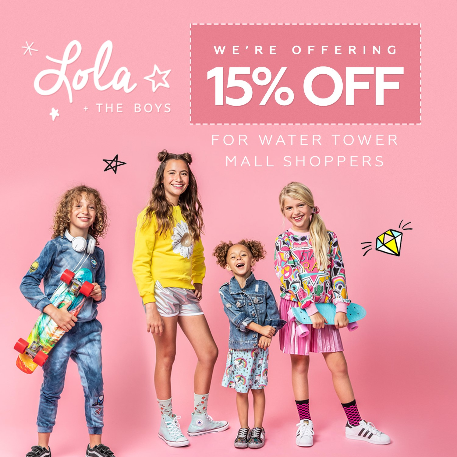Save 15% on children's apparel at Lola + the Boys