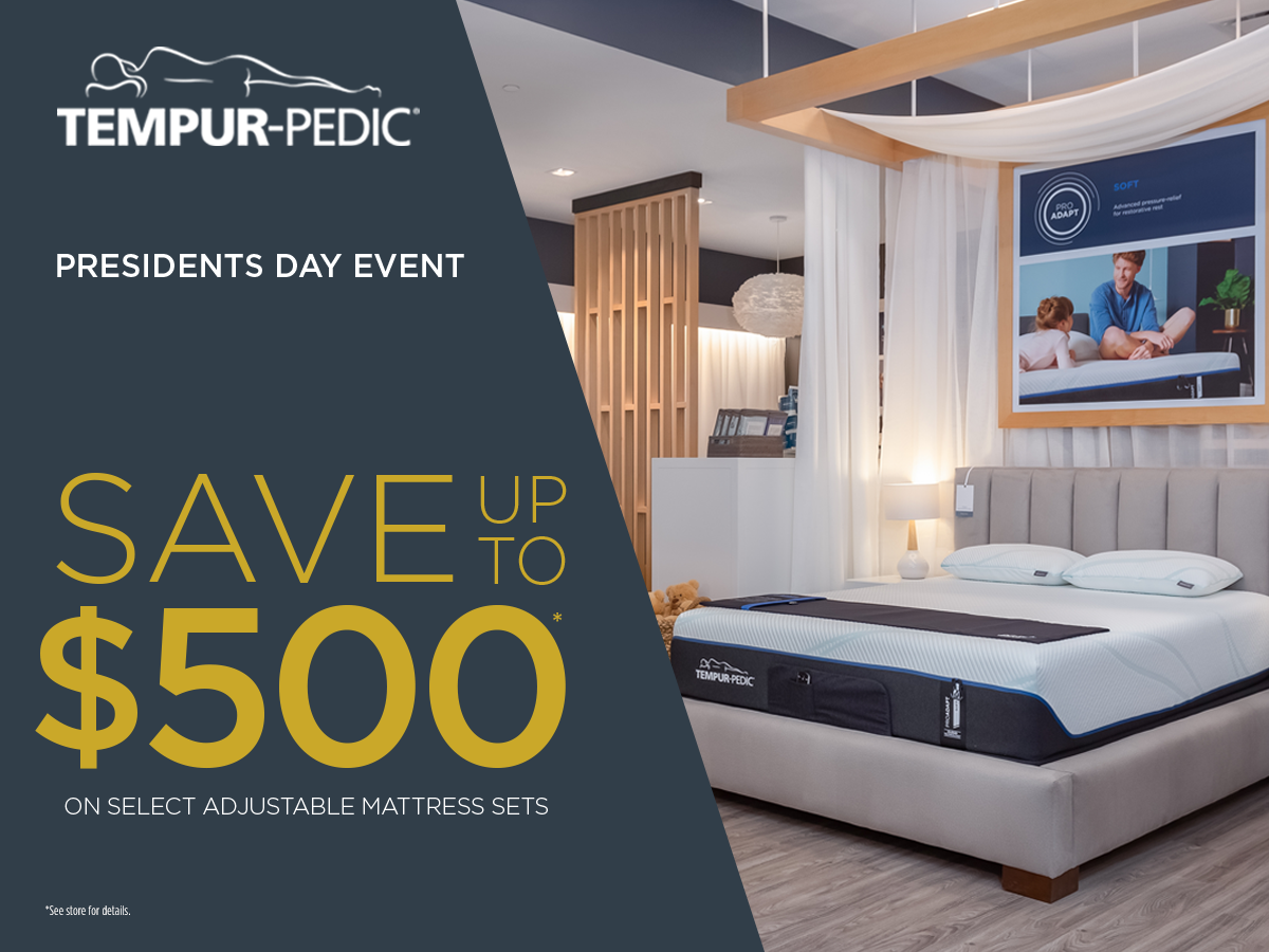 Presidents Day Sale from Tempur-Pedic