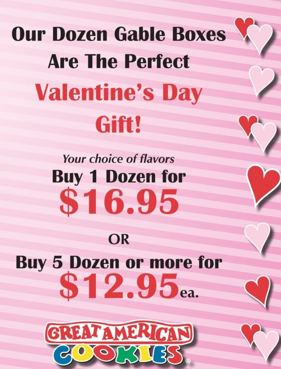 Valentine's Special from Great American Cookie Co
