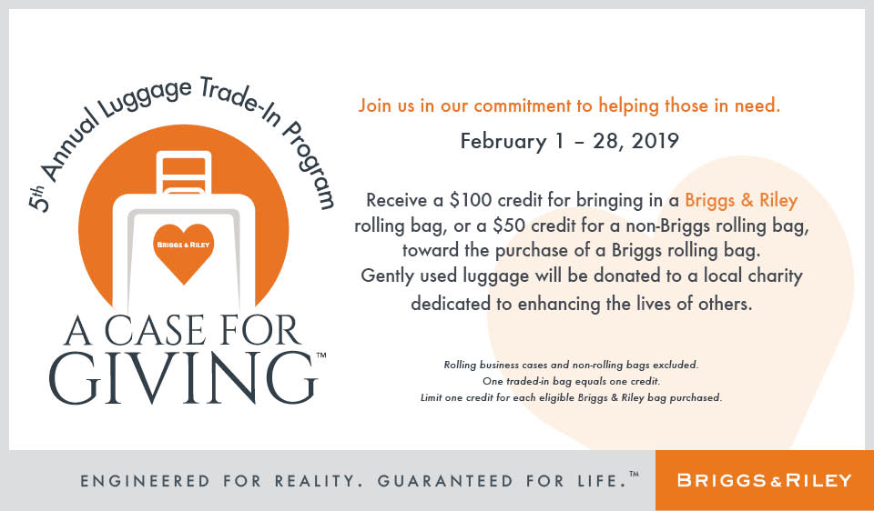 6th Annual Luggage Trade-In-Program from Shapiro
