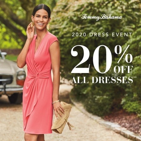 20% off all Dresses from Tommy Bahama
