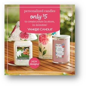 Personalized Candles in Minutes from Yankee Candle