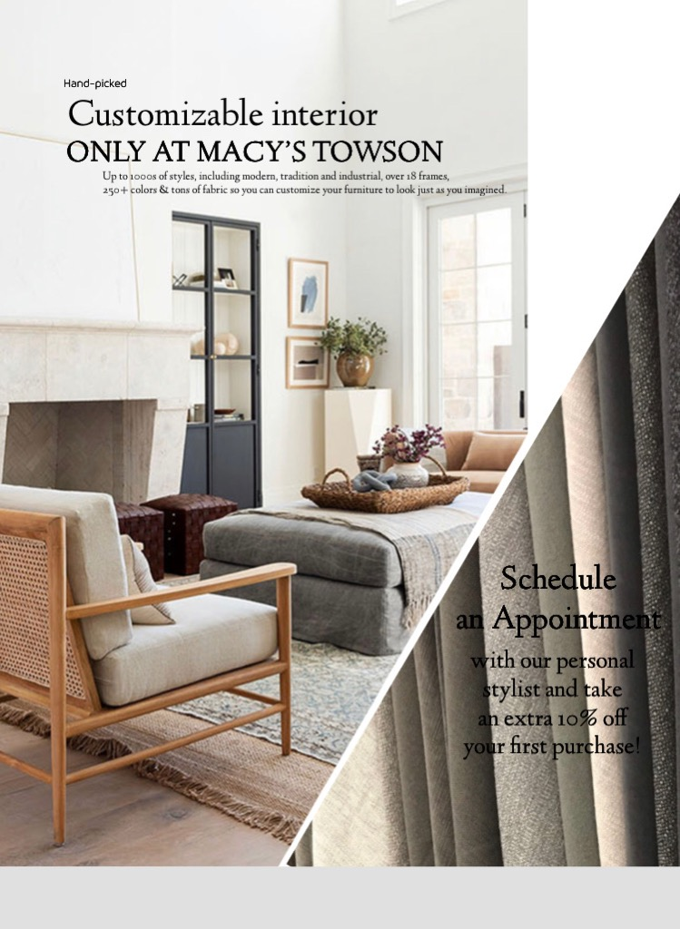 CUSTOMIZABLE INTERIOR from macy's