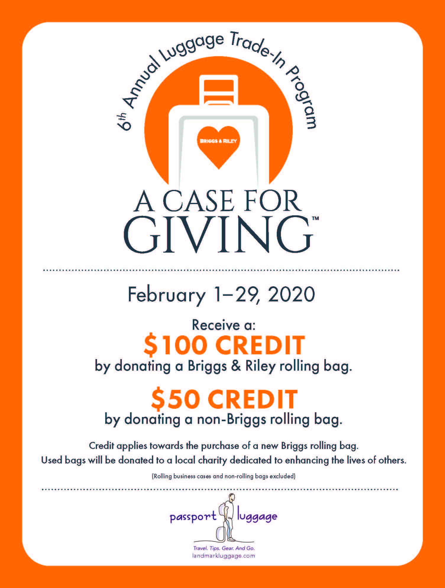 6th Annual Luggage Trade-In Program: A Case for Giving from Passport Luggage