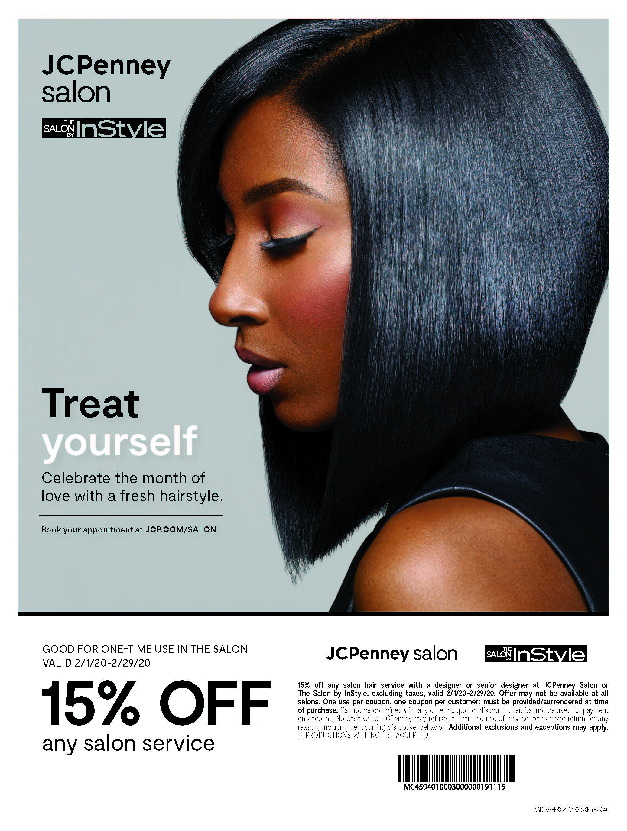 JCPenney Salon: 15% Off Any Service from JCPenney
