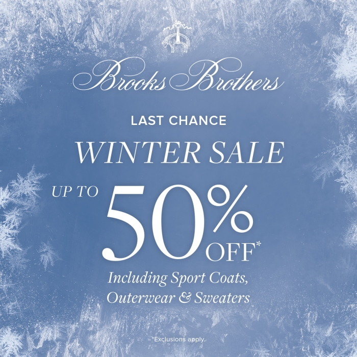 Winter Sale from Brooks Brothers
