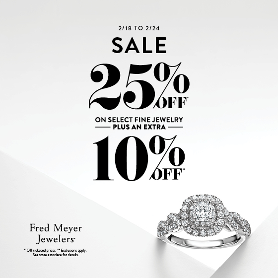 Fred Meyer Jewelers 25% Off from Fred Meyer Jewelers
