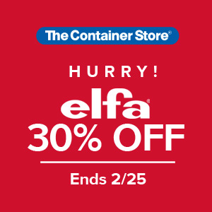 Elfa Custom Closets from The Container Store