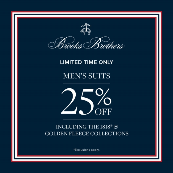 Men's Suit Sale from Brooks Brothers