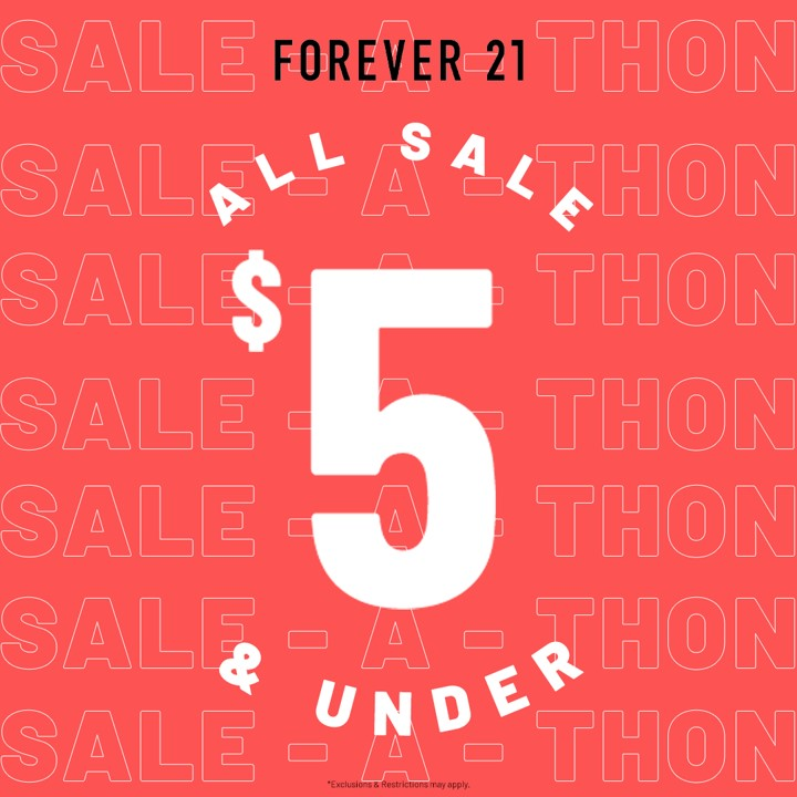 All Sale $5 and Under