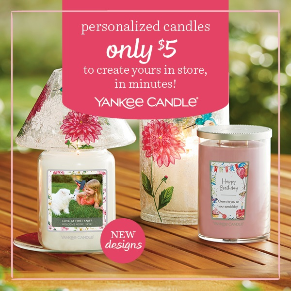 Personalized Candles from Yankee Candle