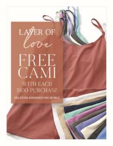 Free Cami from Coldwater Creek