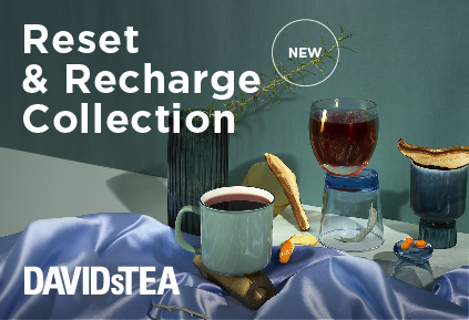 New Reset & Recharge Collection from DAVIDsTEA