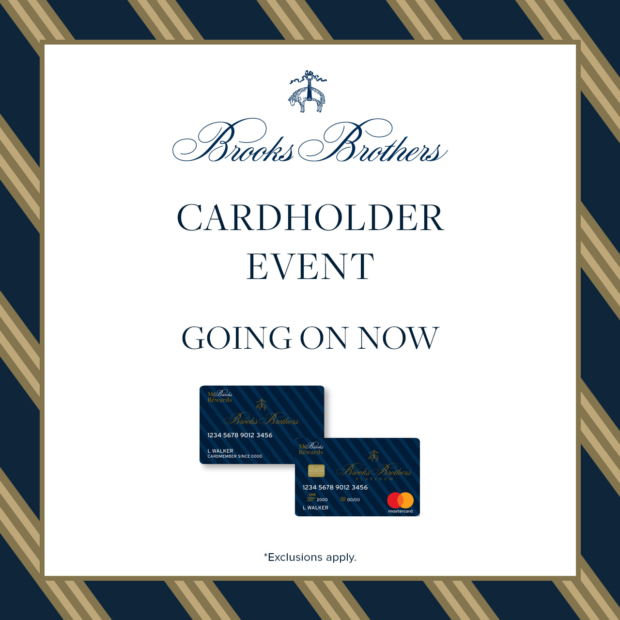 Cardholder Event from Brooks Brothers