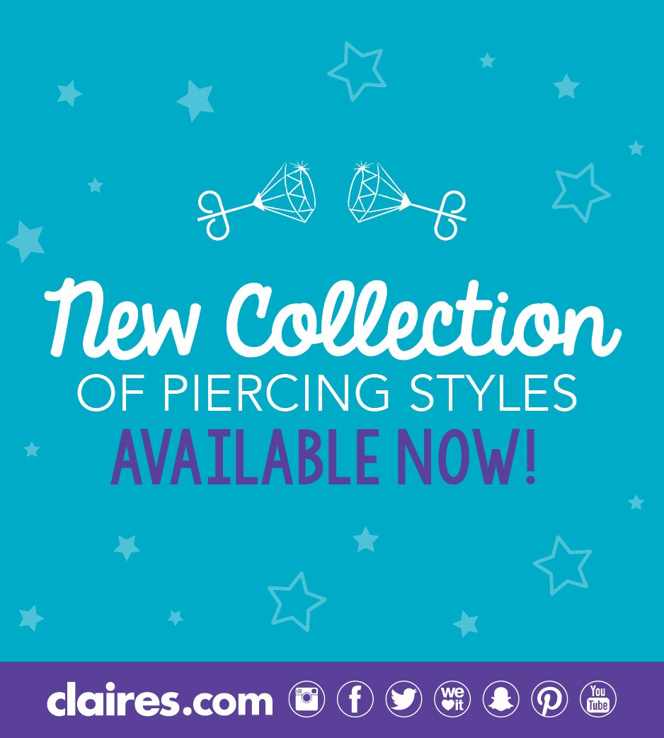 Free Ear Piercing Party at Claire's! from Claire's