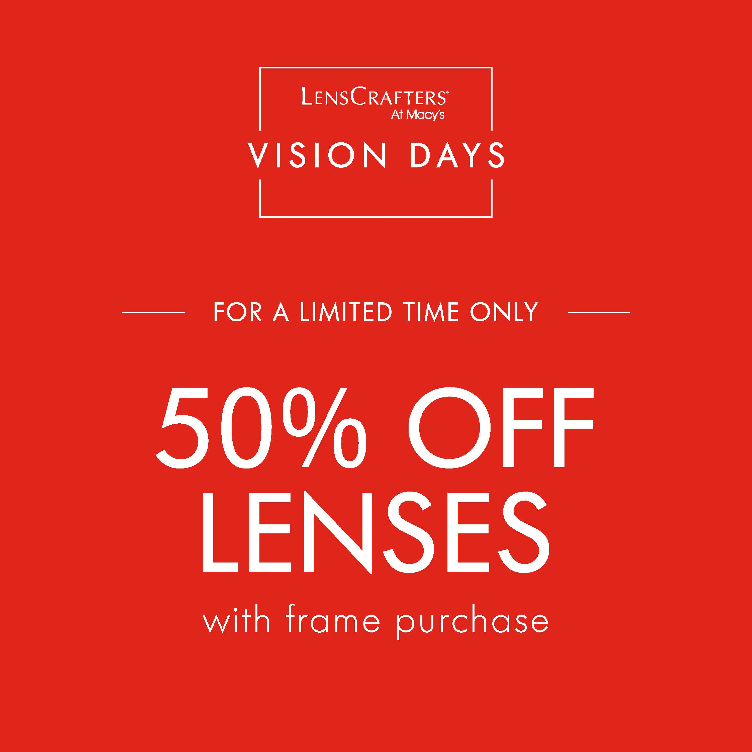 Vision Days at LensCrafters from macy's
