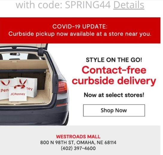JCPenney Curbside Pick Up from JCPenney