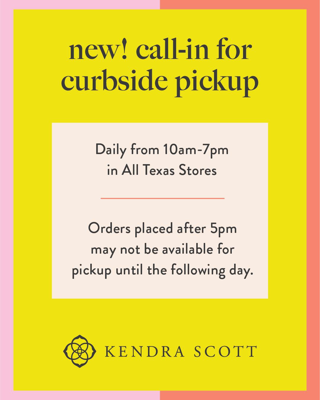 Kendra Scott Curbside Pick-Up from Kendra Scott