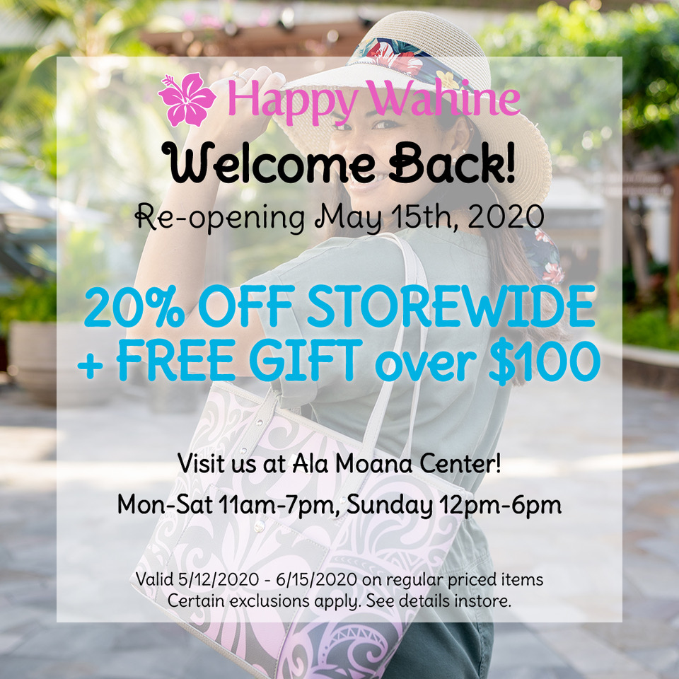 Welcome Back Special from Happy Wahine Boutique
