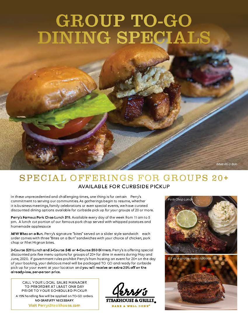Group Specials from Perry's Steakhouse & Grille