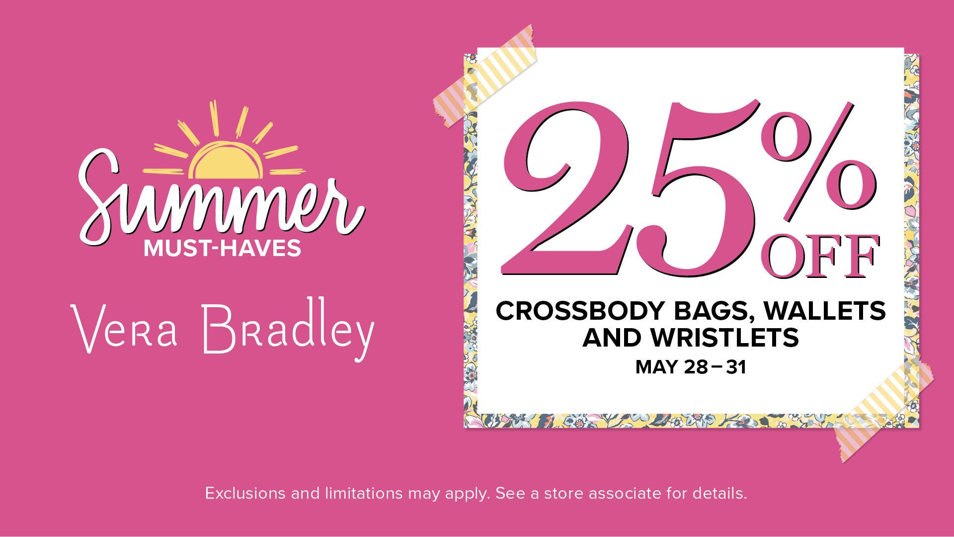 Shop 25% Off from Vera Bradley