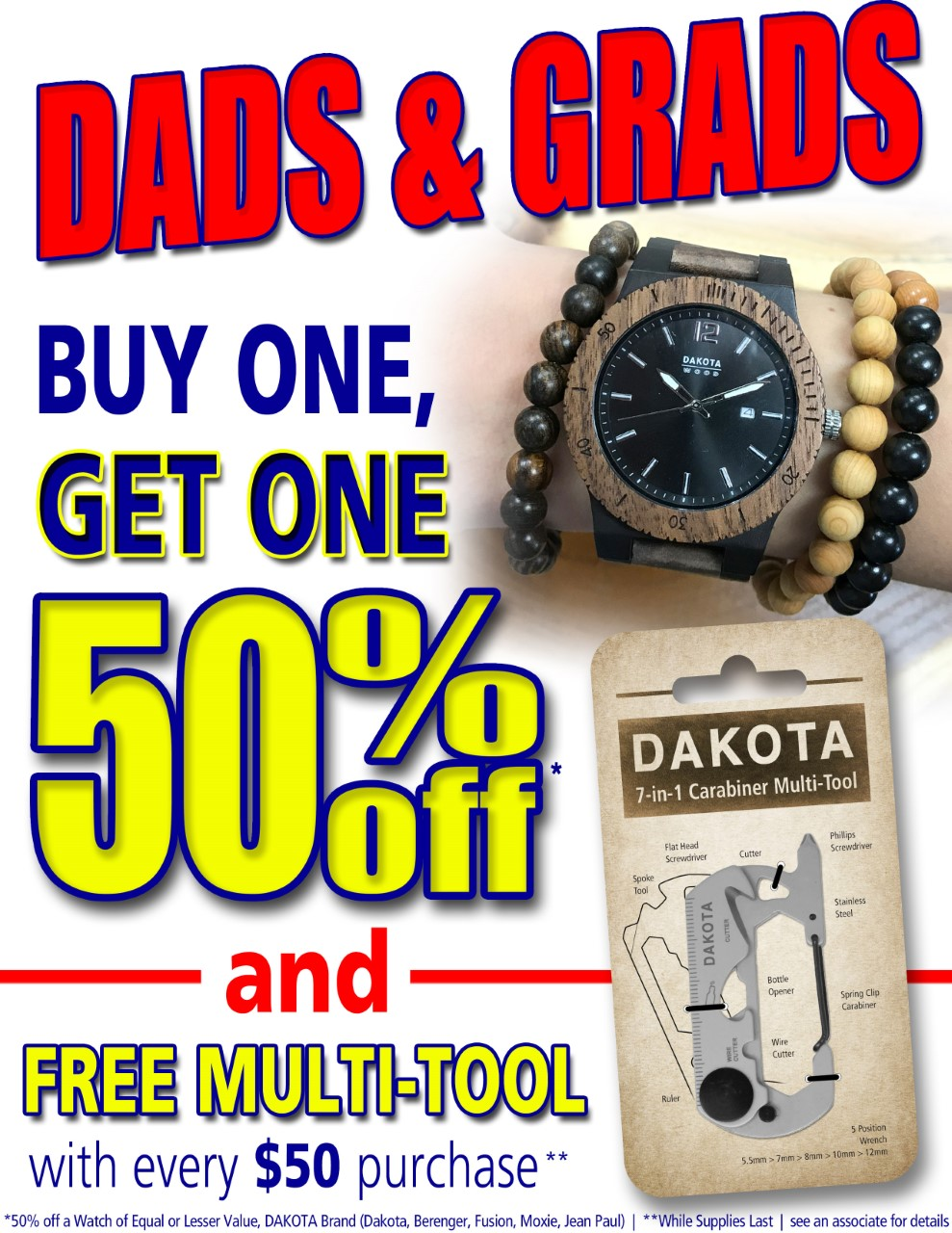 Dads and Grads Promotion from Dakota Watch Company