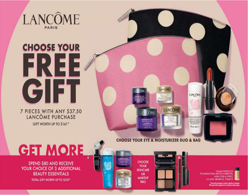 Lancome's Gift with Purchase from Dillard's