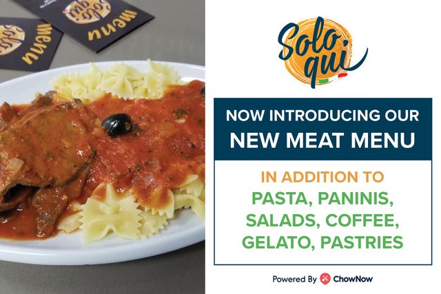 New Meat Menu from Solo Qui