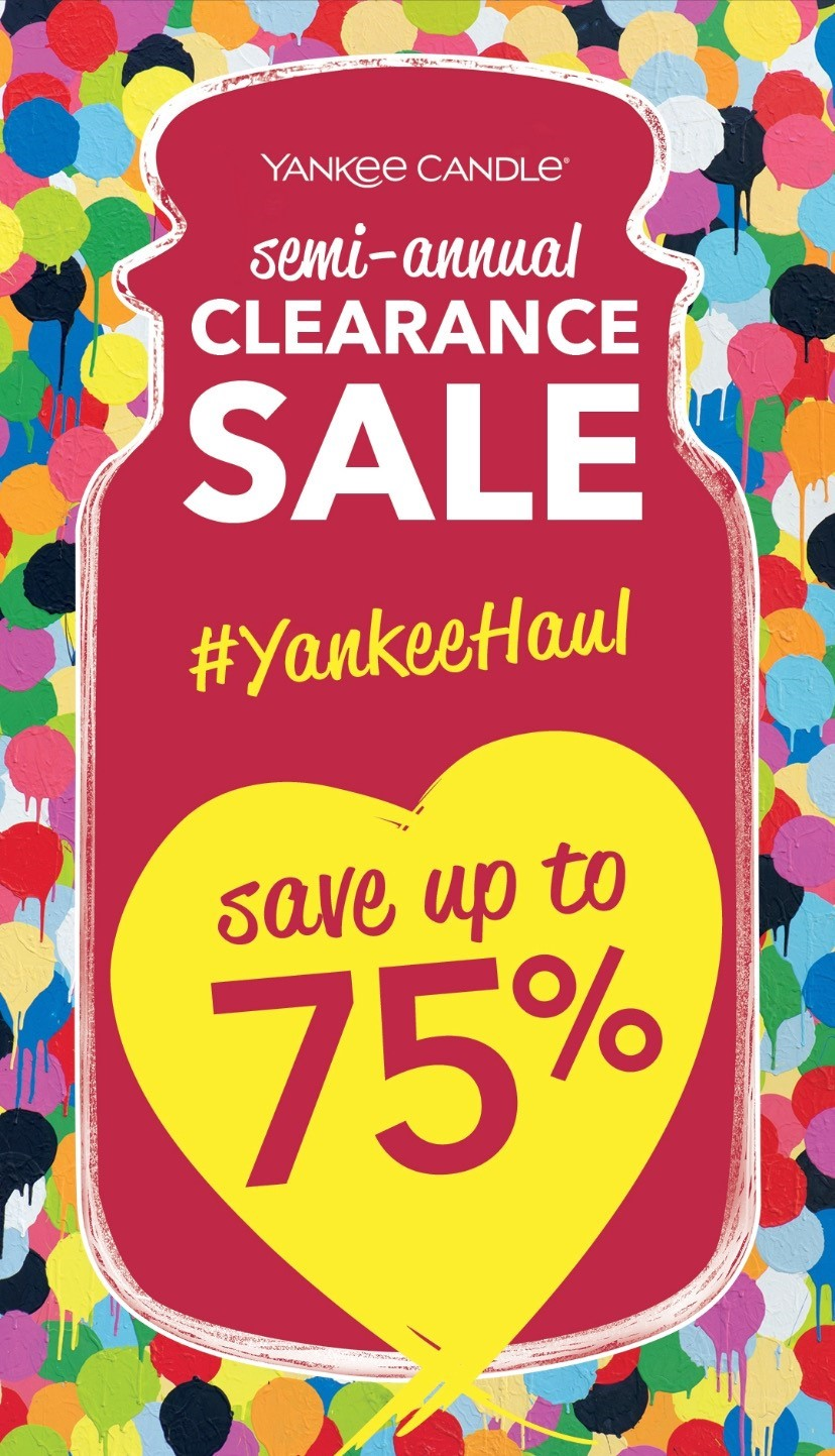 Semi-Annual Clearance Sale from Yankee Candle