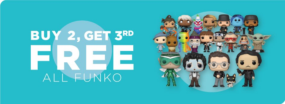 Funko Pops - Buy 2 get the 3rd Free!* from Books-A-Million