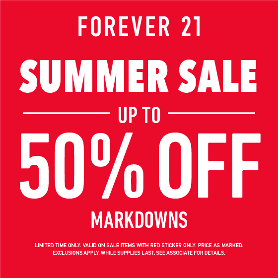 Summer Sale: Up to 50% Off from Forever 21