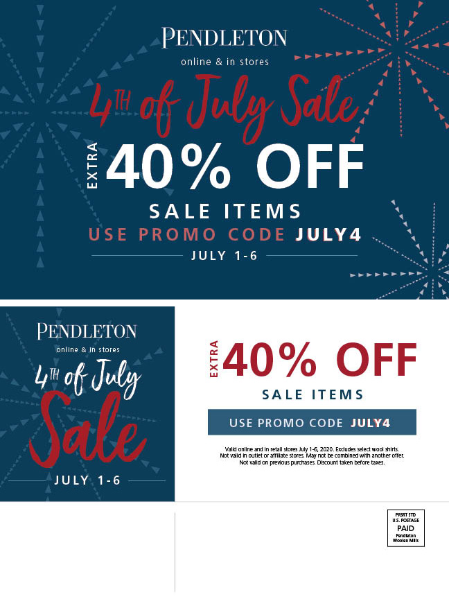 Pendleton 4th of July sale from Pendleton