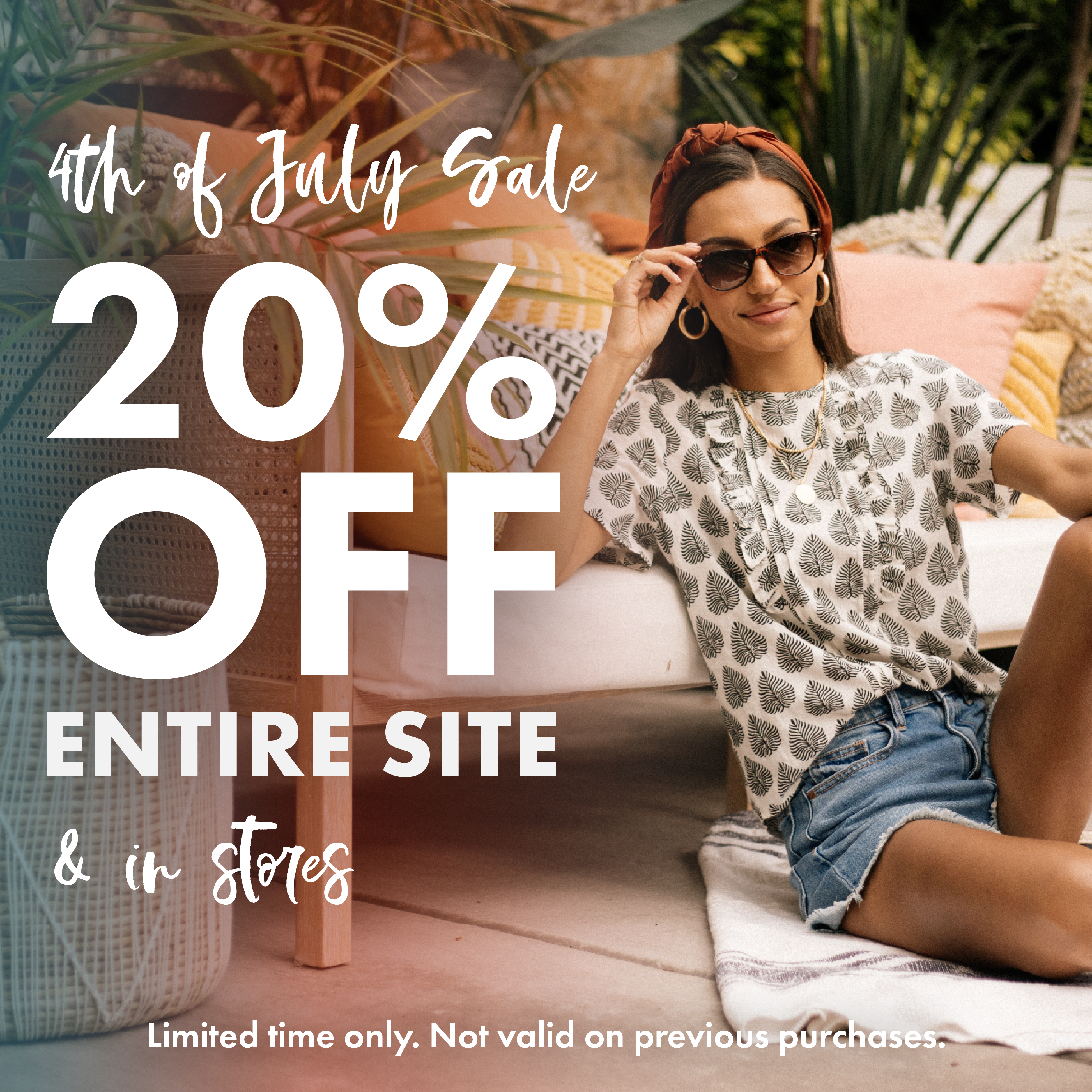 4th of July Sale! 20% off Everything! from Bohme Boutique