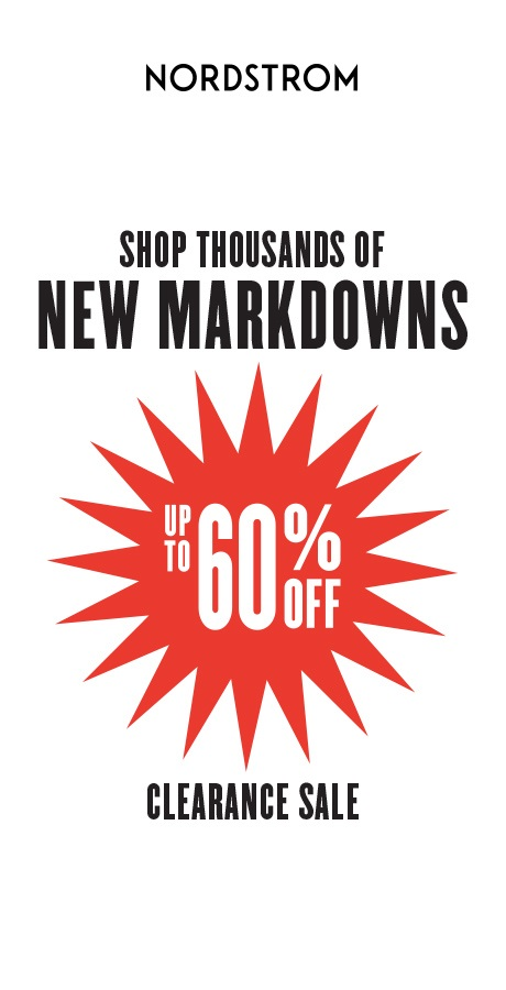 Up to 60% off from Nordstrom